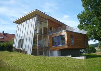 Passive house made from ecological building materials, Wohnhaus im Odenwald – architect: Heinrich Schäfer, Reichelsheim